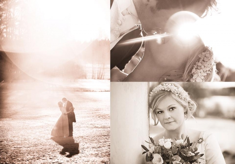Bröllopsfotografering vinterbröllop oldstyle