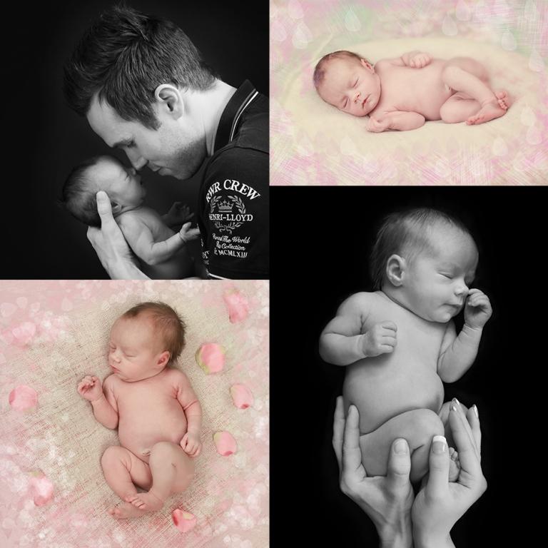 nyfödd-collage